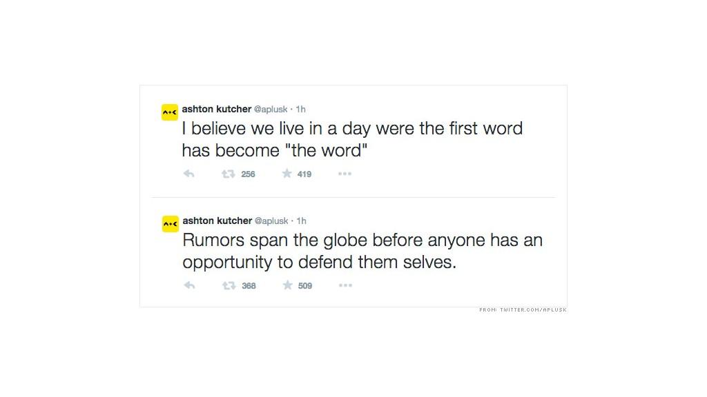 kutcher tweets 2