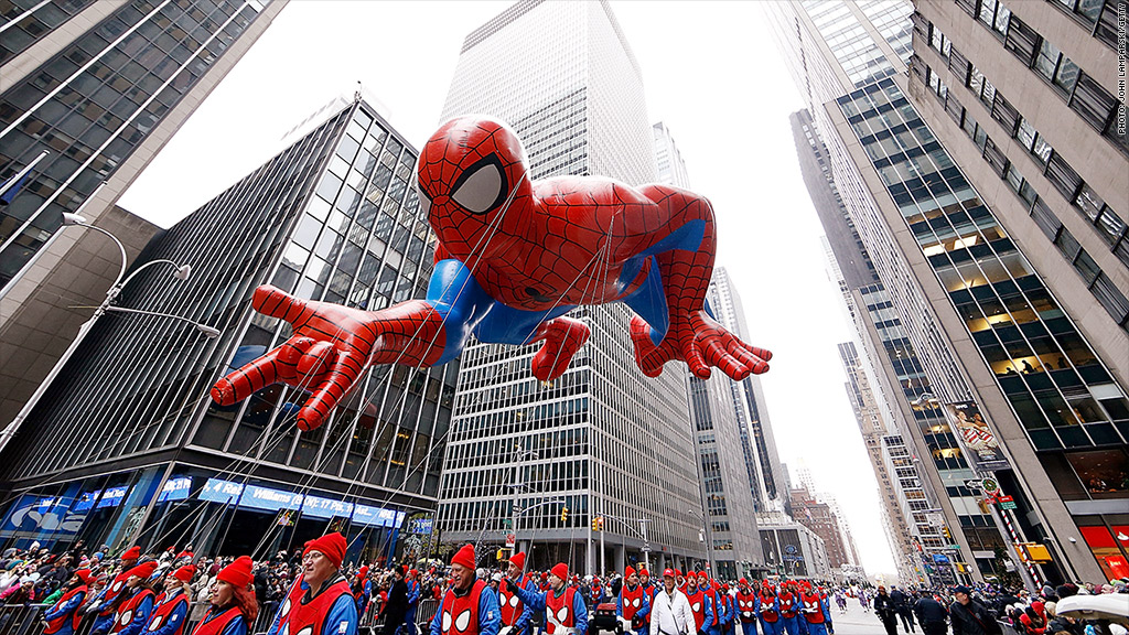 spiderman macys parade