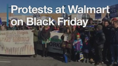 Protests at Walmart on Black Friday
