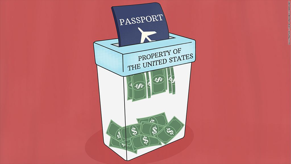Giving up your U.S. passport? It's going to cost you