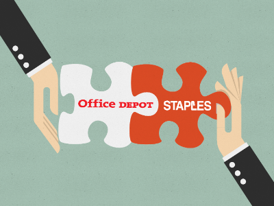 staples office depot merger