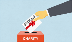 Rising trend: Donating stock to charity