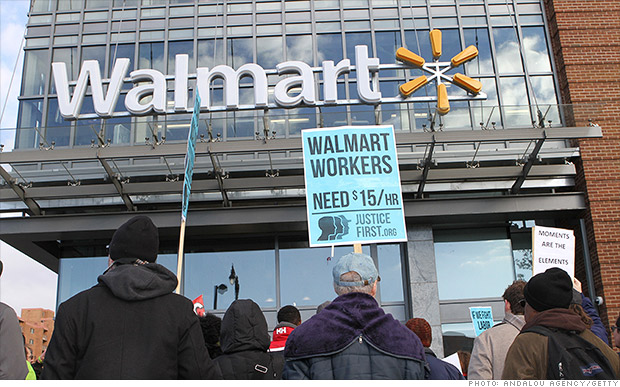 Minimum wage hikes could impact 1,400 Walmart stores