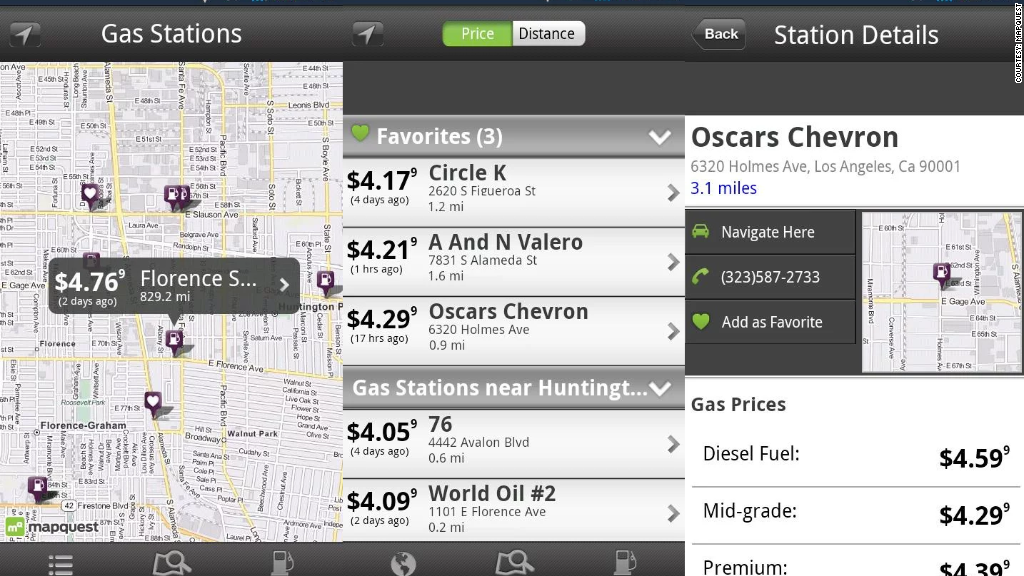 gas apps mapquest