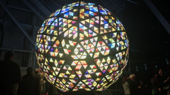 Up close with the New Year's Eve ball