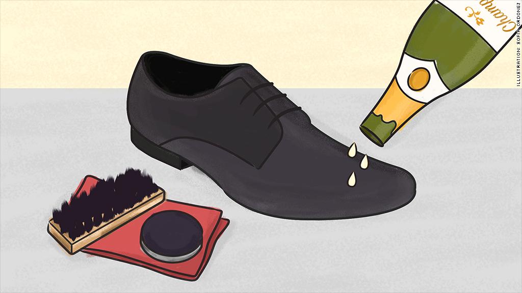 champagne shoe