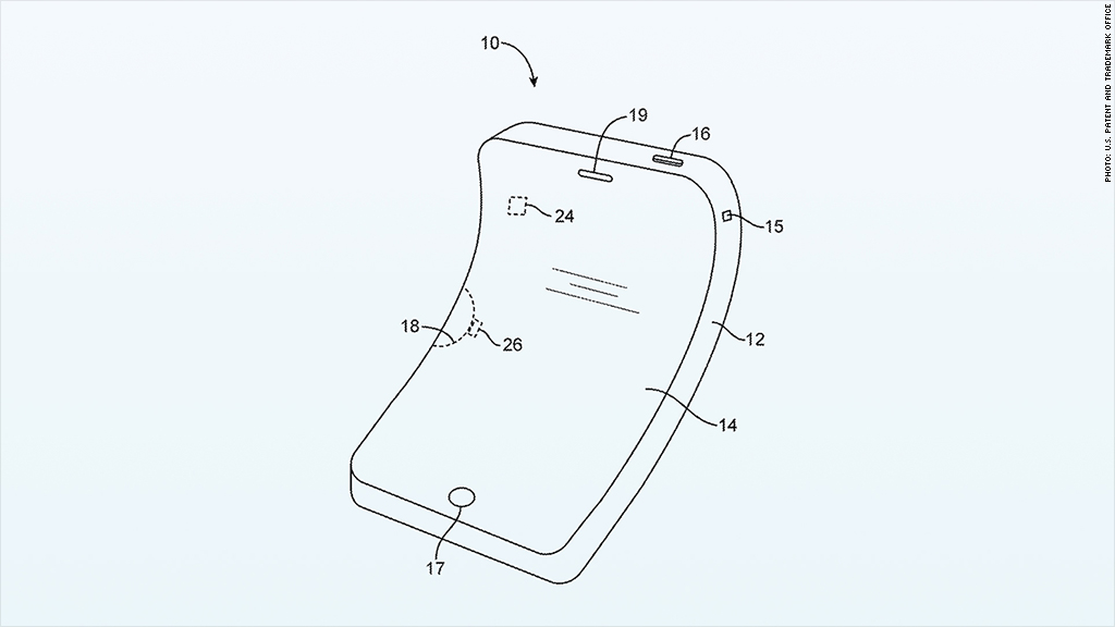 apple patent bendable