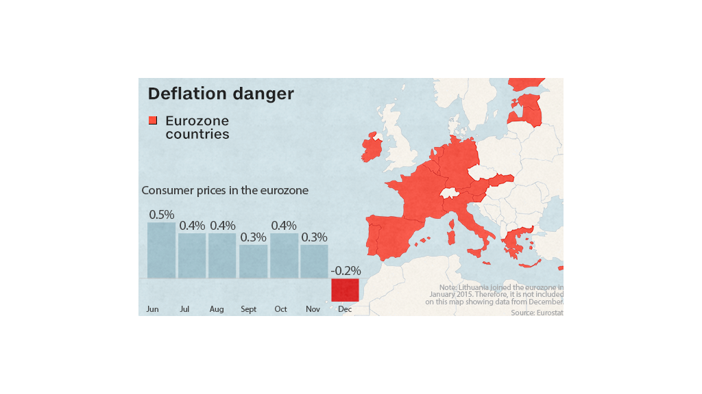 eurozone map deflation