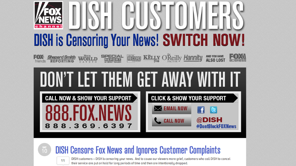 fox dish blackout censorship