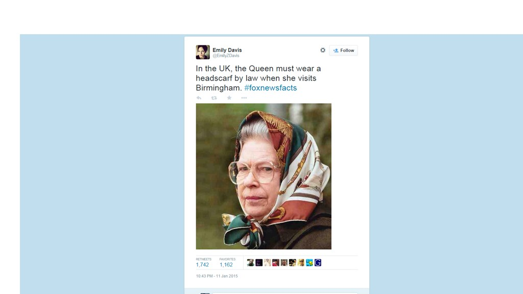 queen tweet headscarf
