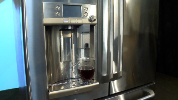 This $3,300 refrigerator has a Keurig coffee maker built in