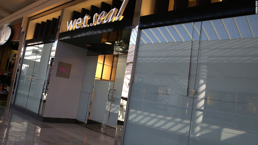 Wet Seal retail bankruptcy