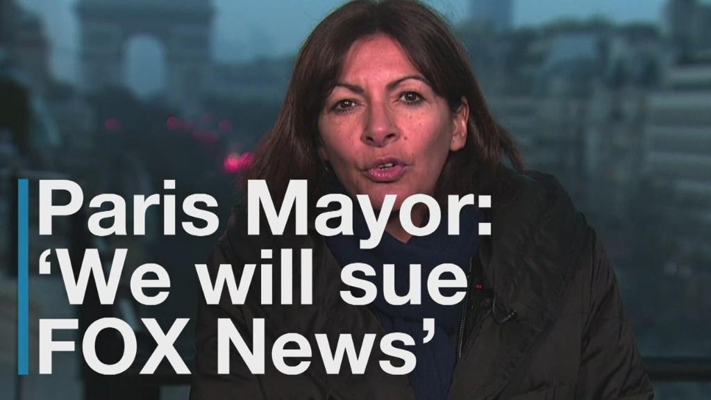 Mayor says Paris will sue FOX News