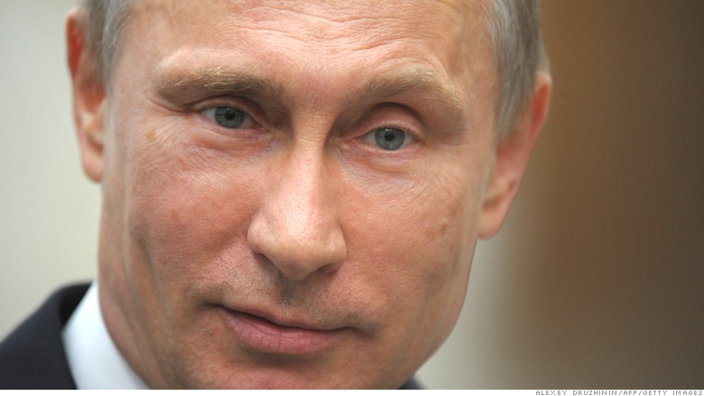 Russia Putin close up