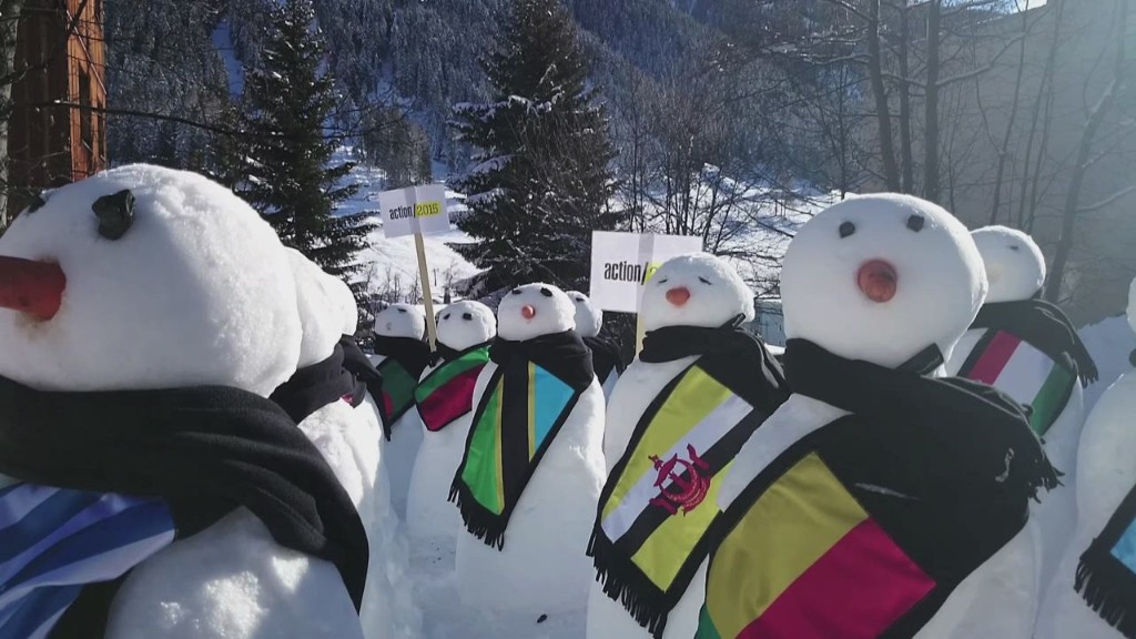 Snowmen stand to address inequality