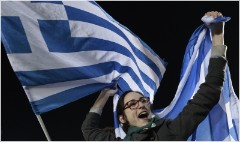 Greek banks plunge as new government challenges bailout