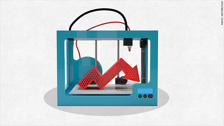 3d printer stocks down