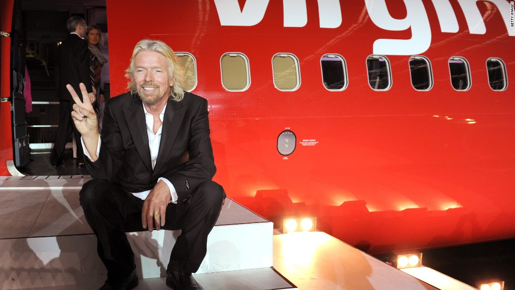 What's in Richard Branson's suitcase?