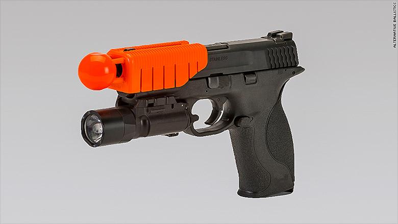 Ferguson police explore 'less lethal' gun attachment