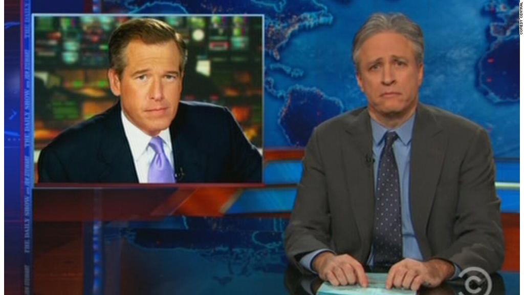Jon Stewart stokes Brian Williams controversy