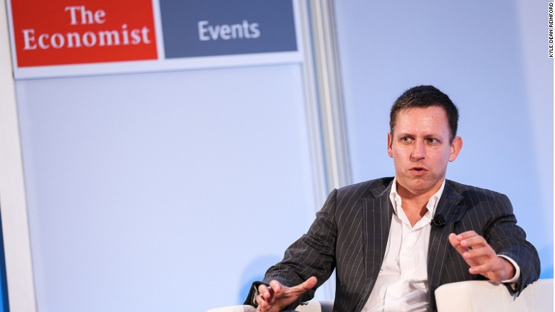Peter Thiel jobs Economist