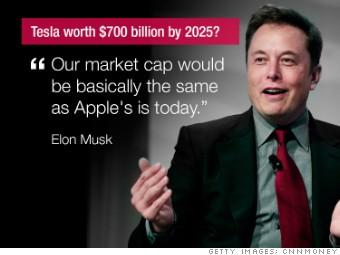 Elon Musk's 'insane' call: Tesla worth $700 billion