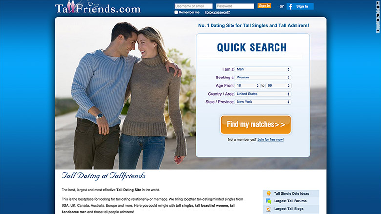 dating sites tall friends