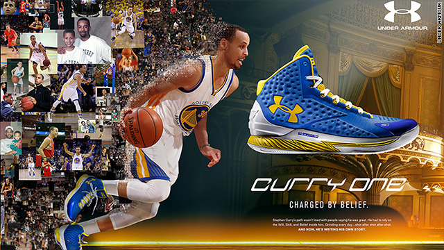 hot sale online 40395 48258 The face of Under Armour's basketball shoe: Steph Curry