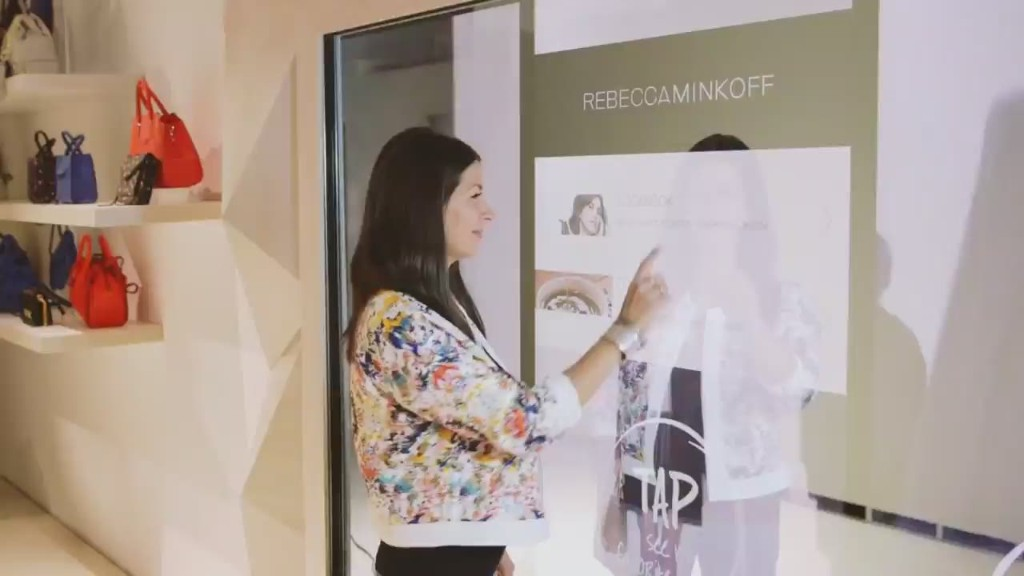 High-tech fashion: Touchscreens in fitting rooms
