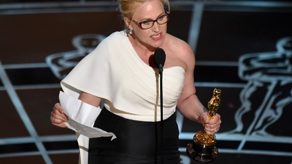 Oscar winner Patricia Arquette calls for pay equality for women