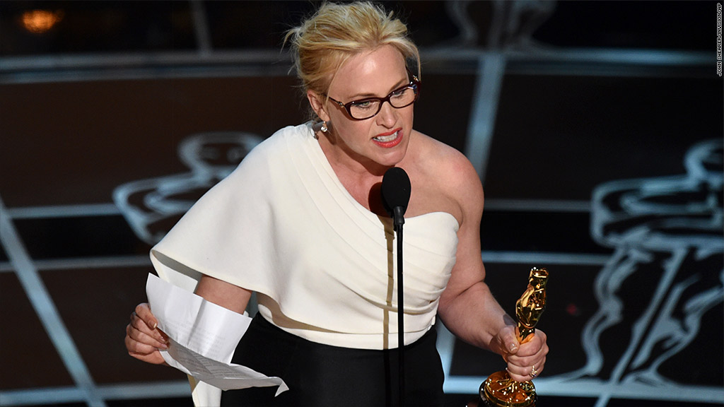 Patricia Arquette: 'It's our time to have wage equality'