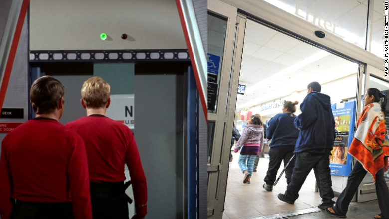One of the first pieces of technology to come out of Star Trek was the automatic door. & Automatic doors - Star Trek technology that we use today - CNNMoney