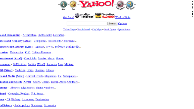 Jerry And Davids Guide To The World Wide Web Yahoo 20 Years Of