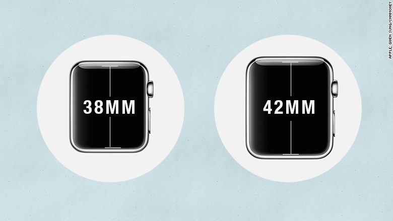 apple watch known size