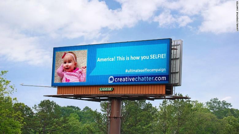 selfie billboard creative chatter