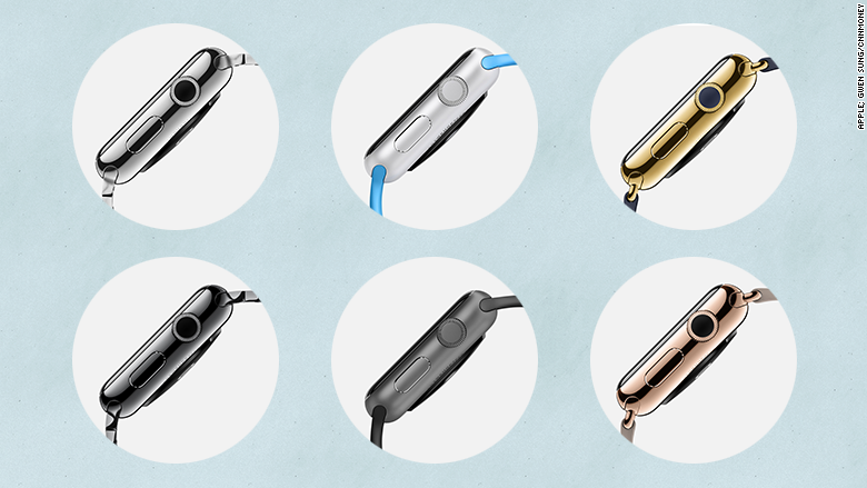 apple watch known colors