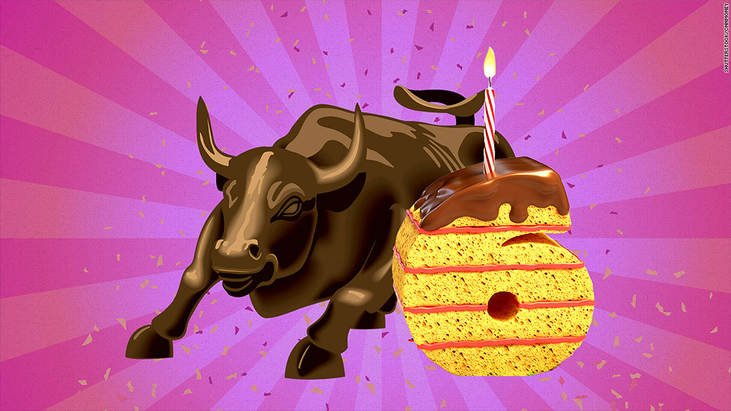 The bull market turns six