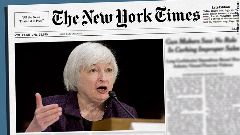new york times yellen