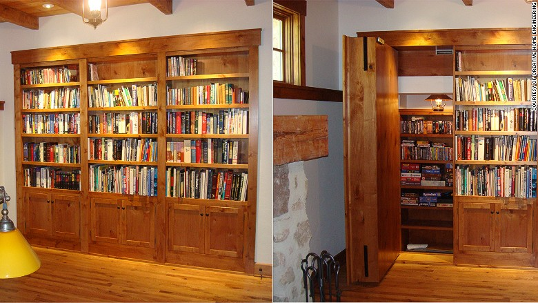 hidden room bookshelves