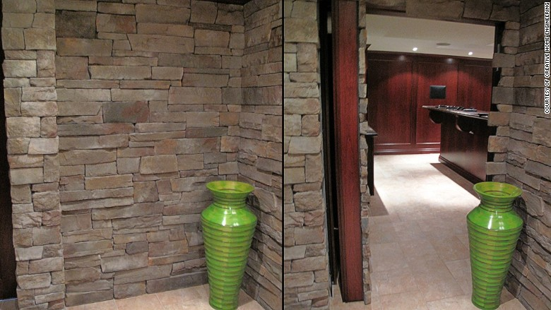 hidden room stone wall