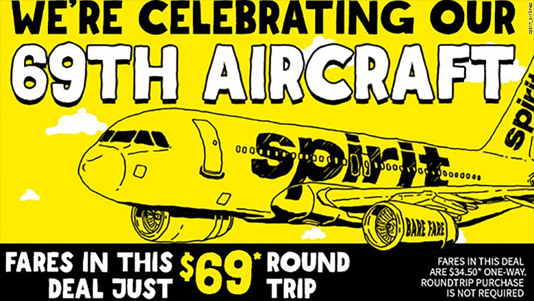 spirit airlines 69th