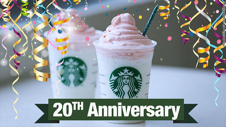 Starbucks Sells Birthday Cake Frappuccino To Celebrate Fraps 20th