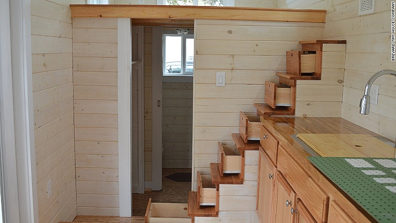 tiny home drawer staircase