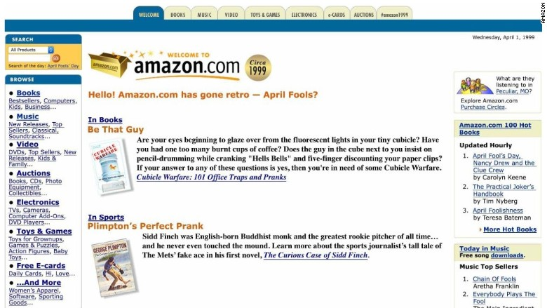 Amazon goes retro - The 32 best April Fools' Day gags of