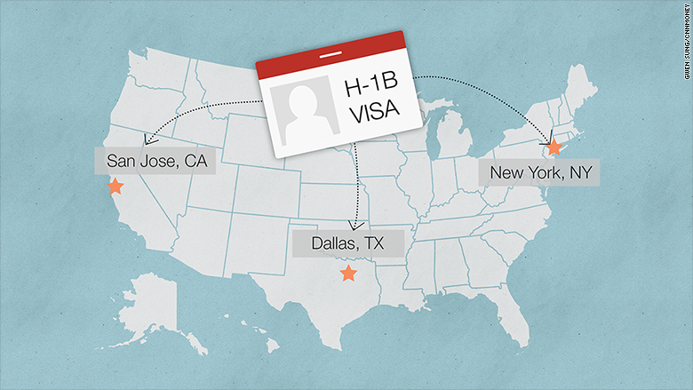 us h1b visa map