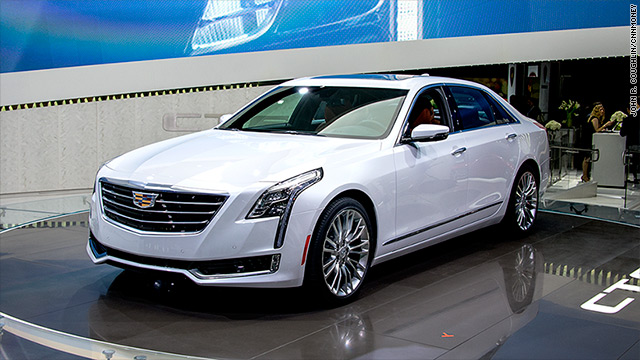 Gm Unveiled The New Ct6 Full Sized Luxury Sedan At York Auto Show A Plug In Hybrid Version Was Shanghai