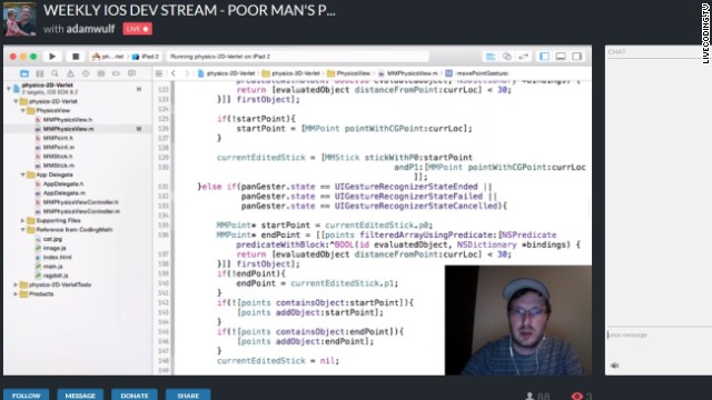 Now you can watch people code -- live -- 24/7