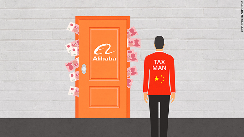 alibaba tax authorities