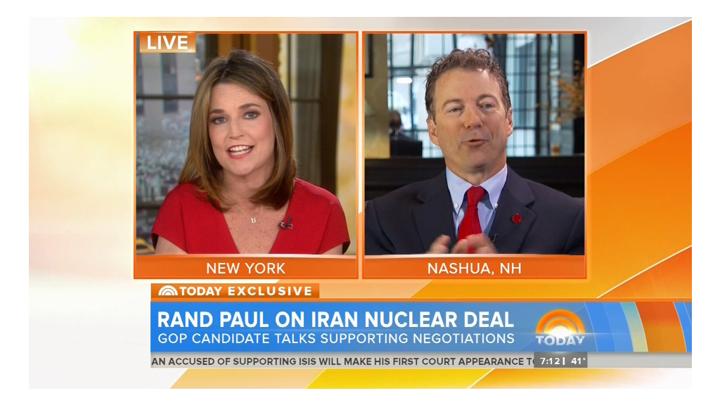 Rand Paul scolds 'Today' anchor Savannah Guthrie
