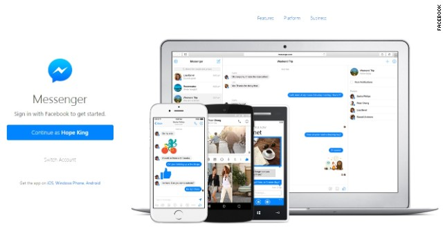 Facebook Messenger Is Now A Standalone Web App